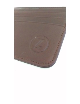Brown leather case for credit cards
