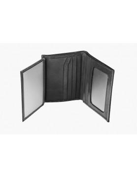 Matt black leather case for credit cards