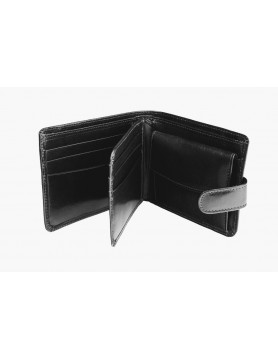 Black mat leather wallet from the casual collection
