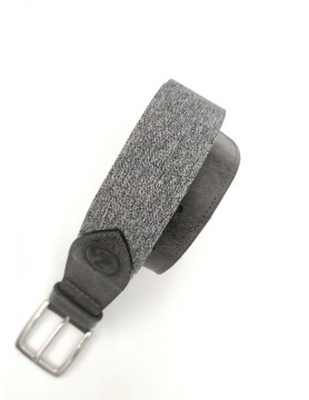 Gray melange belt from the casual collection