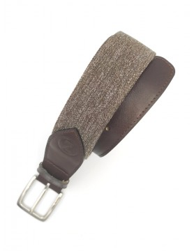 Brown melange belt from the casual collection