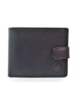 Czarny mat portfel skórzany z kolekcji casual