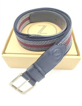 Navy and burgundy belt from the casual collection