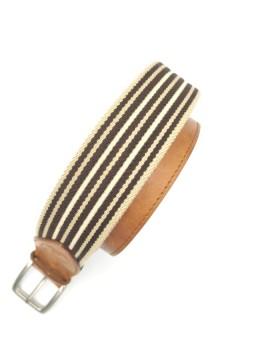 Beżowo-brązowy pasek z kolekcji casual