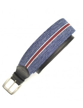 Blue melange belt from the casual collection